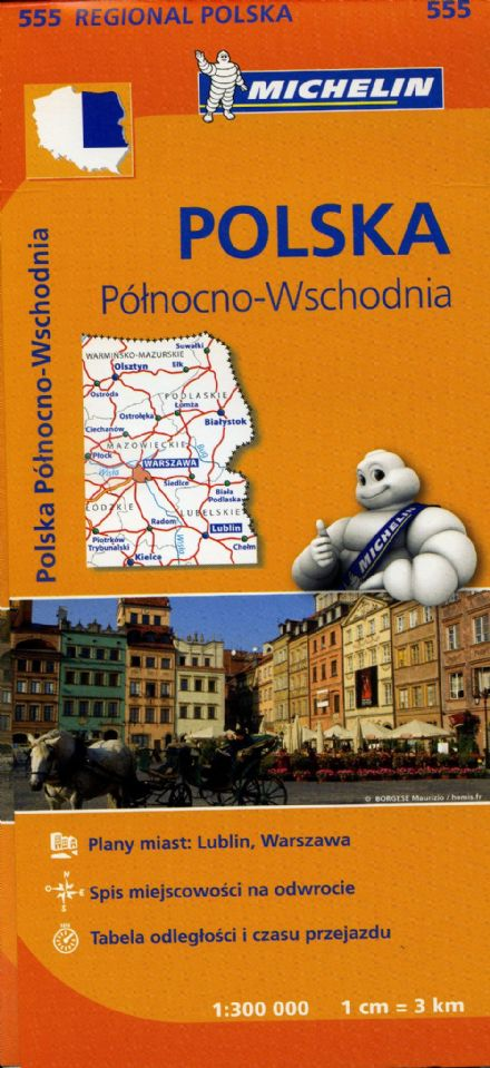 Poland North East - Michelin Map 555